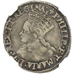 ENGLAND: Philip & Mary, 1554-1558, AR groat. NGC VF30