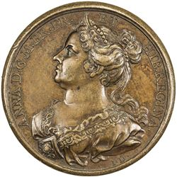 GREAT BRITAIN: George II, 1727-1760, AE medal (34.20g), ND (1731). AU