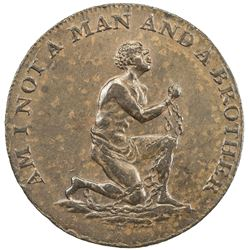 GREAT BRITAIN: AE 1/2 penny token (9.09g), ND [ca. 1795]. EF