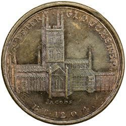 GREAT BRITAIN: AE penny token (26.46g), 1797. PF