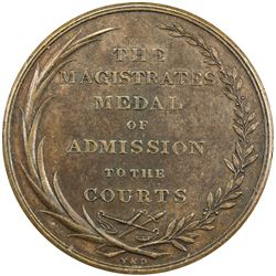 GREAT BRITAIN: AE medal (43.26g), 1818. VF