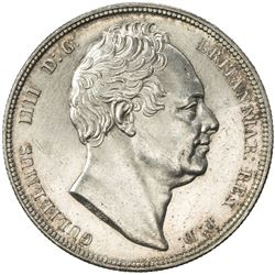 GREAT BRITAIN: William IV, 1830-1837, AR 1/2 crown, 1834. UNC
