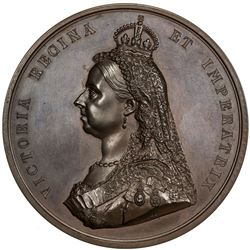 GREAT BRITAIN: Victoria, 1837-1901, AE medal, 1887. UNC