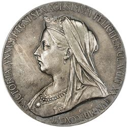 GREAT BRITAIN: Victoria, 1837-1901, AR medal, 1897. EF