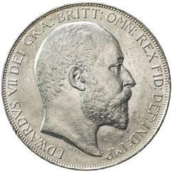 GREAT BRITAIN: Edward VII, 1901-1910, AR crown, 1902. UNC