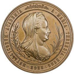 HUNGARY: AE medal (107.5g), 1870. UNC