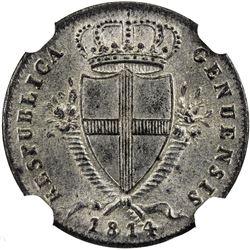GENOA: BI 2 soldi (2.08g), 1814