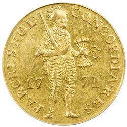 HOLLAND: Dutch Republic, AV ducat, 1771. PCGS MS62