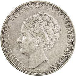 NETHERLANDS: Wilhelmina, 1890-1948, AR 2 1/2 gulden, 1932. VF-EF
