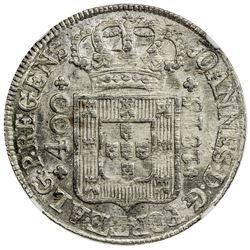 PORTUGAL: Joao, as regent, 1792-1816, AR 400 reis, 1815. NGC MS64