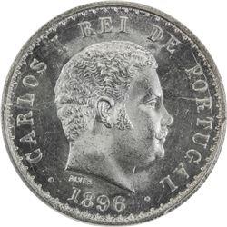 PORTUGAL: Carlos I, 1889-1908, AR 500 reis, 1896. PCGS MS66
