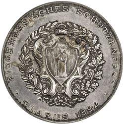 GLARUS: AR shooting medal (38.69g), 1892. AU
