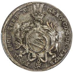 LUZERN: medallic AR 1/4 thaler, Beromunster Abbey, [1]720. PCGS MS65