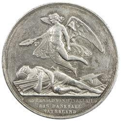 LUZERN: AR shooting medal (33.31g), 1853. AU