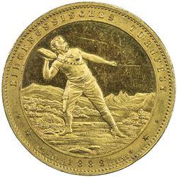 LUZERN: AR medal (20.05g), 1888. AU