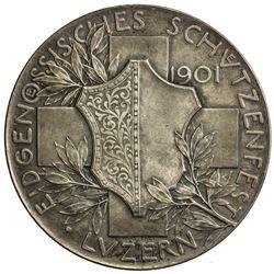 LUZERN: AR shooting medal (35.02g), 1901. UNC