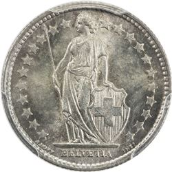 SWITZERLAND: AR 1/2 franc, 1898-B. PCGS MS64