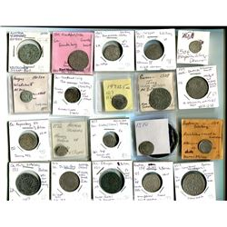 EUROPE: COMPLETE COLLECTION of 410 dated coins, complete for every year from 1500 to 1899