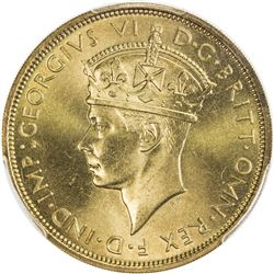 BRITISH WEST AFRICA: George VI, 1937-1952, nickel-brass 2 shillings, 1938-KN. PCGS SP66