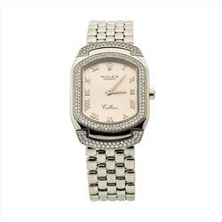 Rolex 18KT White Gold Cellini Cellissma Ladies Wristwatch
