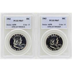 Lot of 1962-1963 Franklin Half Dollar Proof Coins PCGS PR67