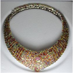 Natural Ruby & Fancy Sapphire 465.25 Carats Necklace
