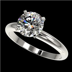 2.03 CTW Certified H-SI/I Quality Diamond Solitaire Engagement Ring 10K White Gold - REF-615F2N - 36