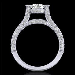 2 CTW VS/SI Diamond Micro Pave Ring 18K White Gold - REF-290M9H - 36947