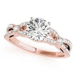 1.35 CTW Certified VS/SI Diamond Solitaire Ring 18K Rose Gold - REF-376H2A - 27841