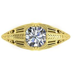1 CTW Solitaire Certified VS/SI Diamond Ring 14K Yellow Gold - REF-279H2A - 38534