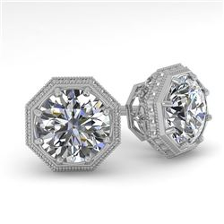 1.50 CTW Certified VS/SI Diamond Stud Earrings 18K White Gold - REF-311Y3K - 35967