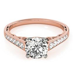 1.1 CTW Certified VS/SI Diamond Solitaire Ring 18K Rose Gold - REF-184F4N - 27514