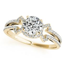 0.9 CTW Certified VS/SI Diamond Solitaire Ring 18K Yellow Gold - REF-152Y8K - 27968