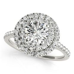 1.25 CTW Certified VS/SI Diamond Solitaire Halo Ring 18K White Gold - REF-214N9Y - 26220