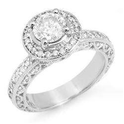 2.0 CTW Certified VS/SI Diamond Ring 18K White Gold - REF-430F9N - 11365