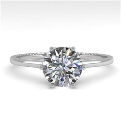 1.0 CTW VS/SI Diamond Solitaire Engagement Ring 18K White Gold - REF-283Y5K - 35886