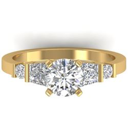 1.69 CTW Certified VS/SI Diamond Solitaire Ring 14K Yellow Gold - REF-392F8N - 30395