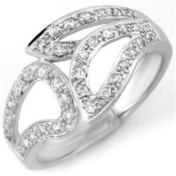 0.33 CTW Certified VS/SI Diamond Ring 18K White Gold - REF-52X8T - 10779