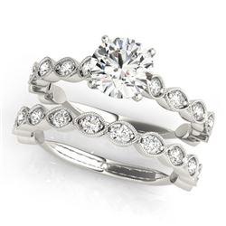 2.02 CTW Certified VS/SI Diamond Solitaire 2Pc Wedding Set 14K White Gold - REF-402X8T - 31613