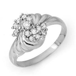 0.25 CTW Certified VS/SI Diamond Ring 14K White Gold - REF-36F2N - 14326