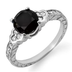 2.52 CTW VS Certified Black & White Diamond Ring 18K White Gold - REF-104N5Y - 11821