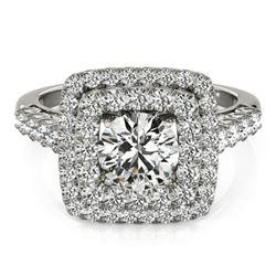 2.05 CTW Certified VS/SI Diamond Solitaire Halo Ring 18K White Gold - REF-447N8Y - 27102