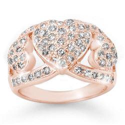 1.50 CTW Certified VS/SI Diamond Ring 14K Rose Gold - REF-128W9F - 14339