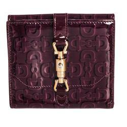 Gucci Purple Patent Leather Horsebit Wallet