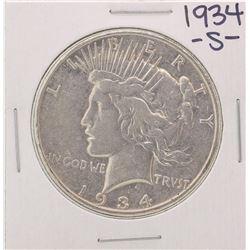 1934-S $1 Peace Silver Dollar Coin