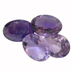 29.41 ctw Oval Mixed Amethyst Parcel