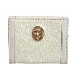 Bvlgari White Leather Coin Case