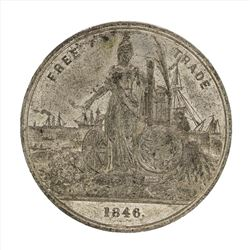 1846 Free Trade Anti-Corn Law League Medal