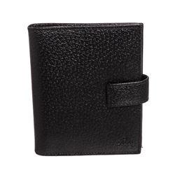 Gucci Black Cinghiale Leather Mini Agenda Cover