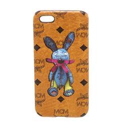 MCM Cognac Visetos Coated Canvas Rabbit IPhone5 Hard Case